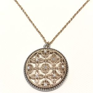 LOFT gold and silver tone necklace